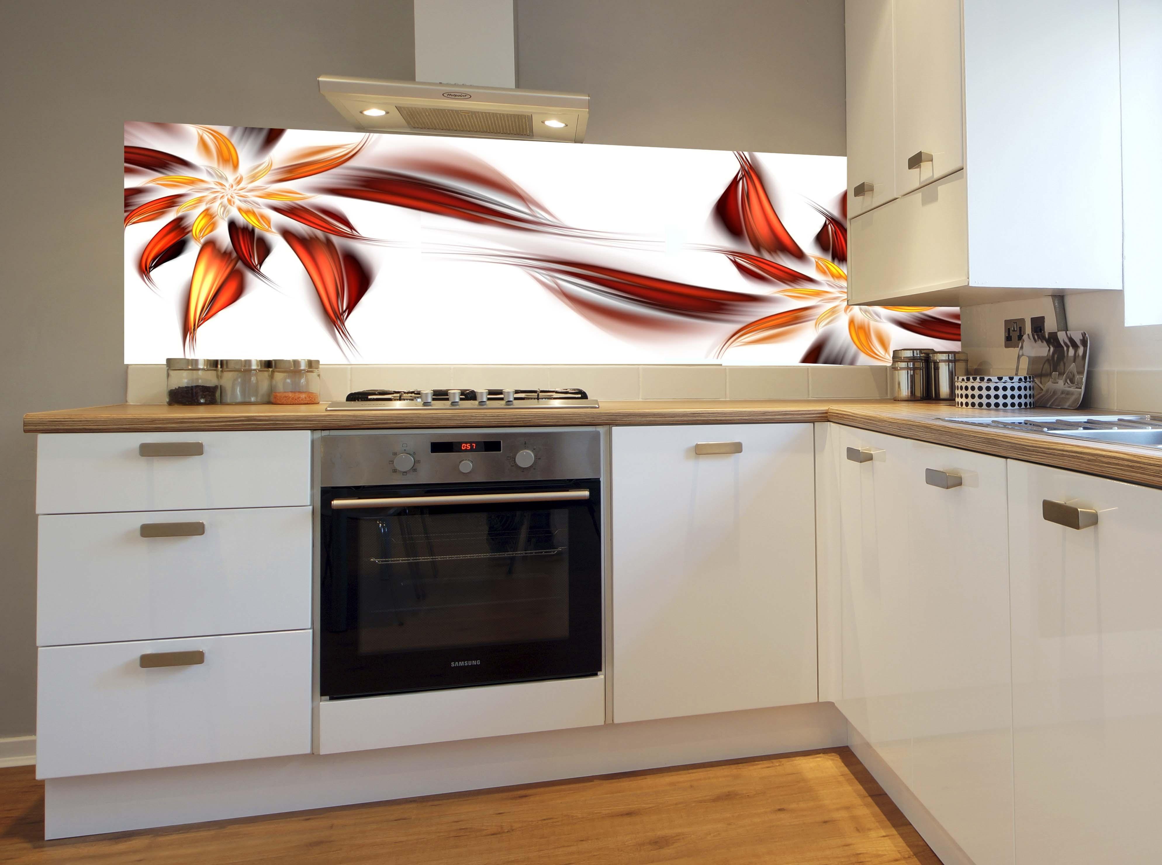 Fototapeta do kuchni RED FLOWER  Magic & Style -> Fototapeta Stara Kuchnia