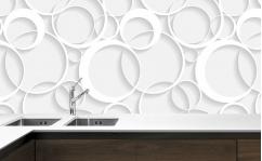 Panel szklany do kuchni 3D WHITE