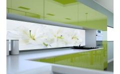 Panel szklany do kuchni WHITE LILY