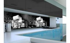 Panel szklany do kuchni ICE ON BLACK