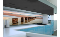 Panel szklany do kuchni ZACHÓD SŁOŃCA NAD MORZEM