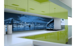 Panel szklany do kuchni MOST BROOKLINSKI NOCĄ III
