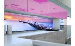Panel szklany do kuchni KŁADKA NAD MORZEM