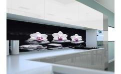 Panel szklany do kuchni ORCHIDEA ON STONES II