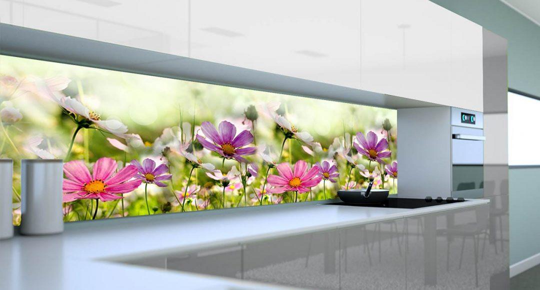 polne kwiaty fototapeta do kuchni