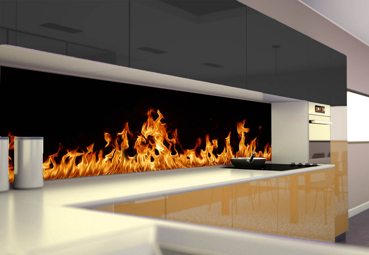Panel Szklany Do Kuchni Ogień