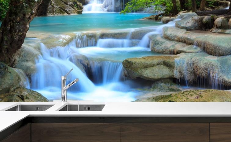 Fototapeta Do Kuchni Wodospad W Tajlandii