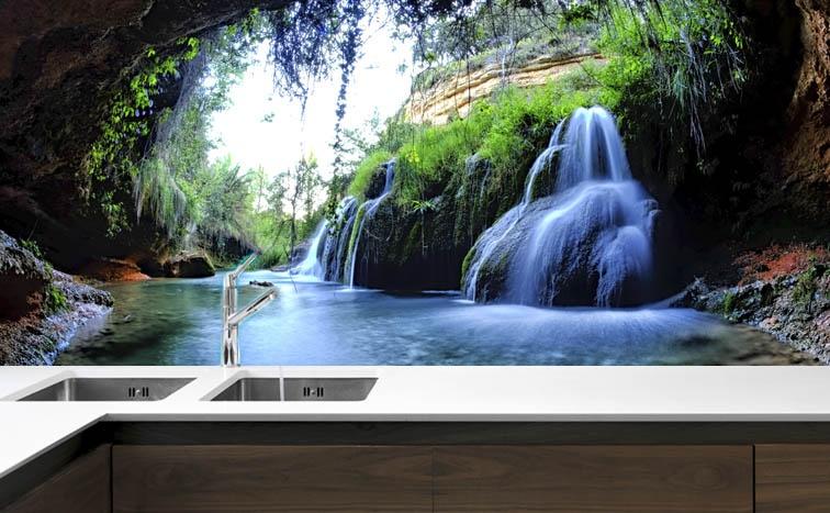 fototapeta do kuchni wodospad ii magic amp style