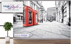 Fototapeta do salonu LONDON RED TELEPHONE BOX