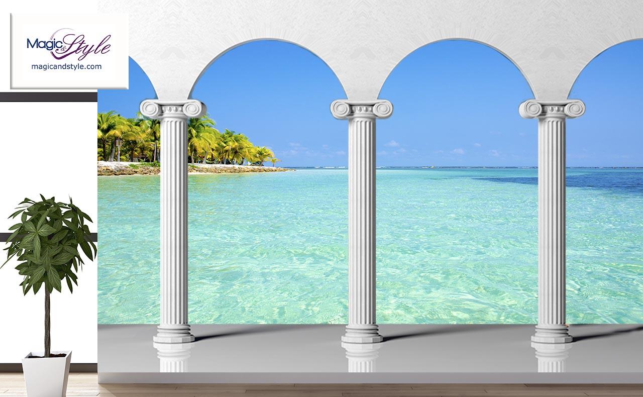 Fototapeta Do Salonu 3d Bezludna Wyspa Magic Style
