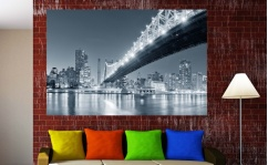 Obraz canvas BROOKLYN BRIDGE BY NIGHT