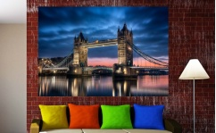 Naklejka samoprzylepna 100x70cm LONDON TOWER BRIDGE BY NIGHT