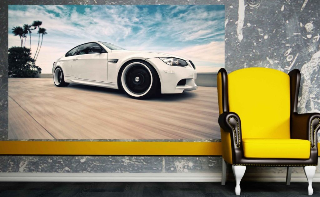 Naklejka Samoprzylepna 100x70cm Bmw M3 In White Magic Style