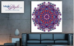 Obraz canvas MANDALA WHITE & VIOLET