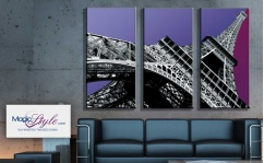 Obraz canvas tryptyk TRIPLE EIFFEL TOWER