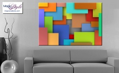 Obraz MDF COLORFUL GEO