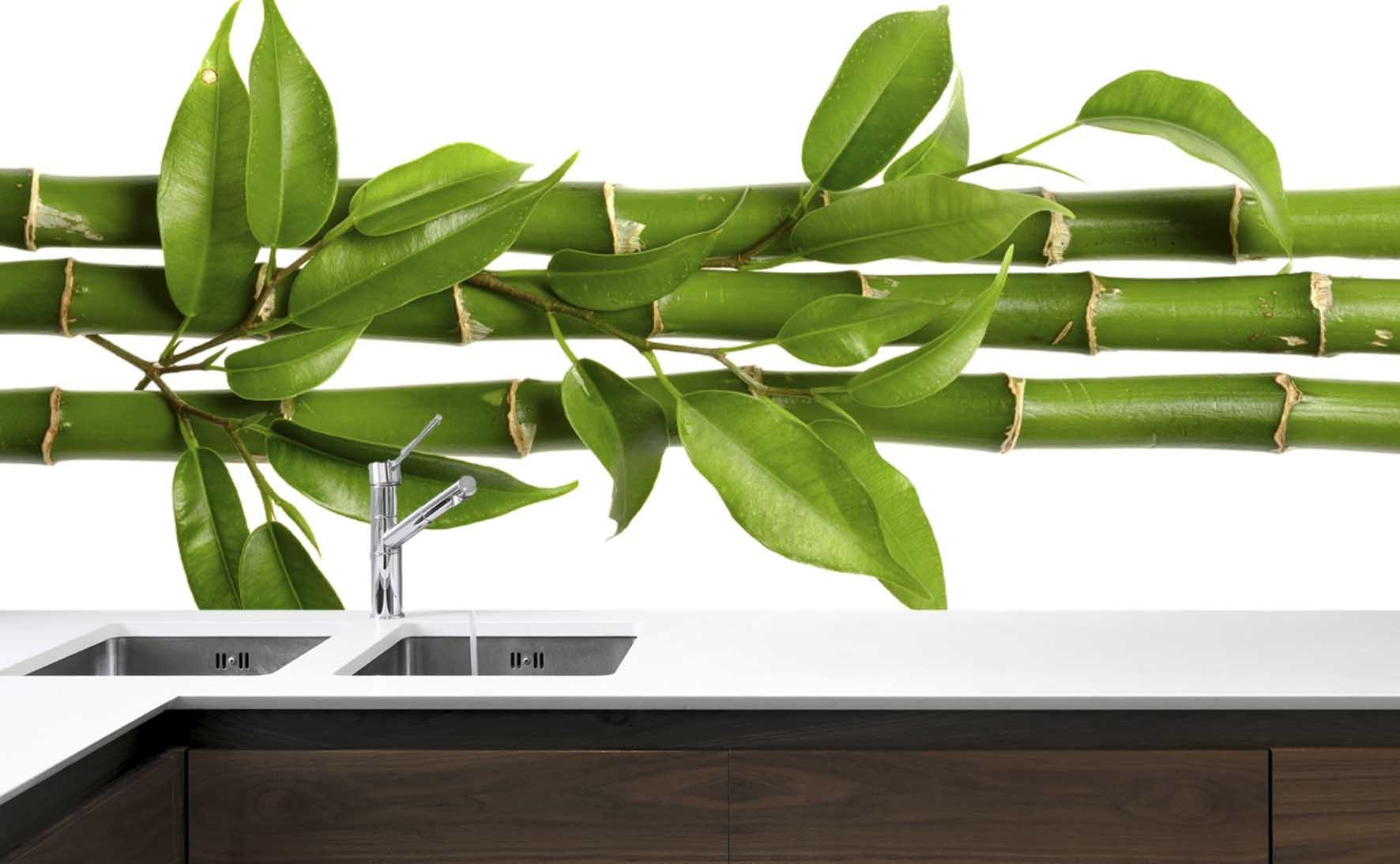 Panel Szklany Do Kuchni Zielony Bambus