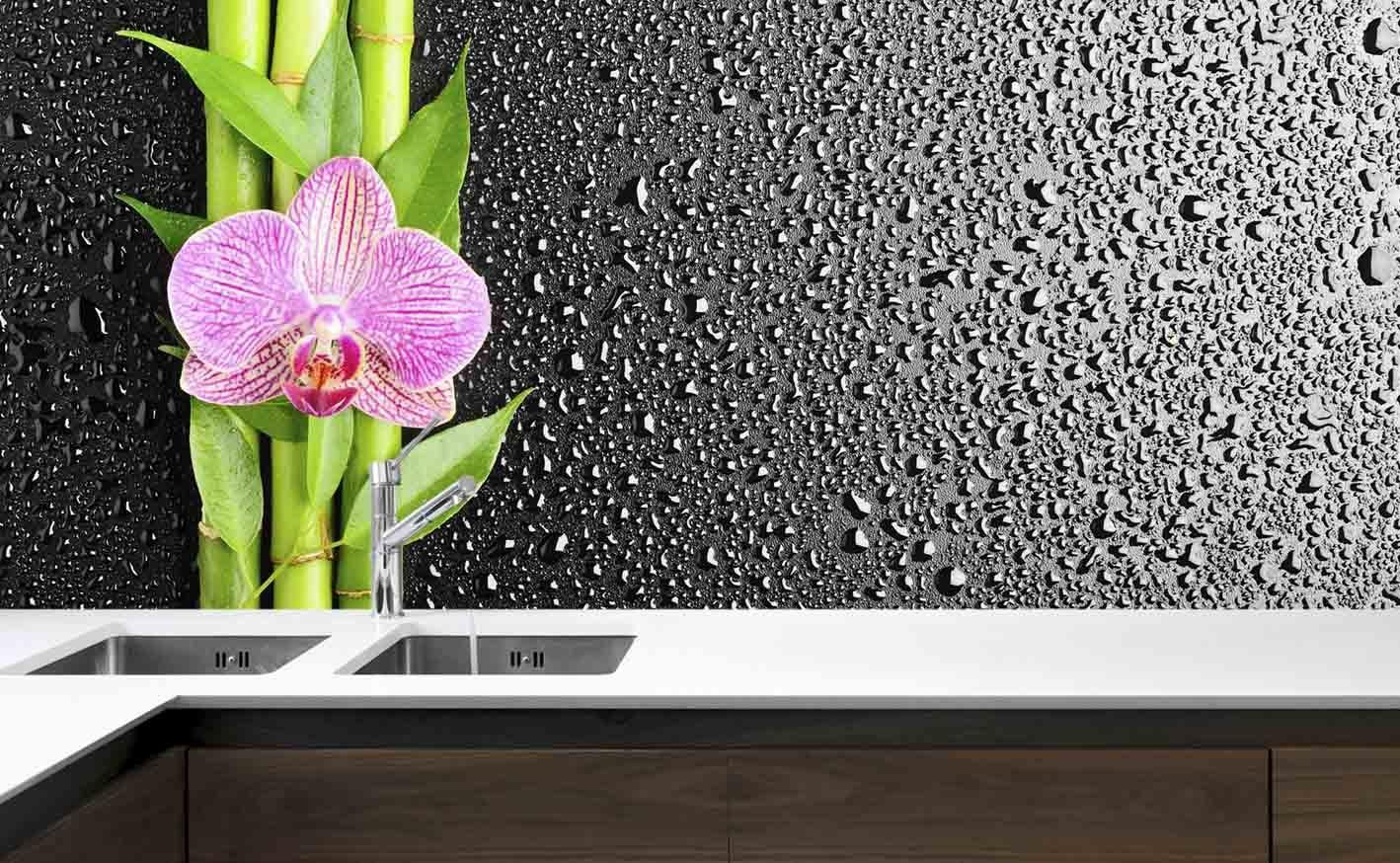 Panel Szklany Do Kuchni Orchidea Bambus Ii