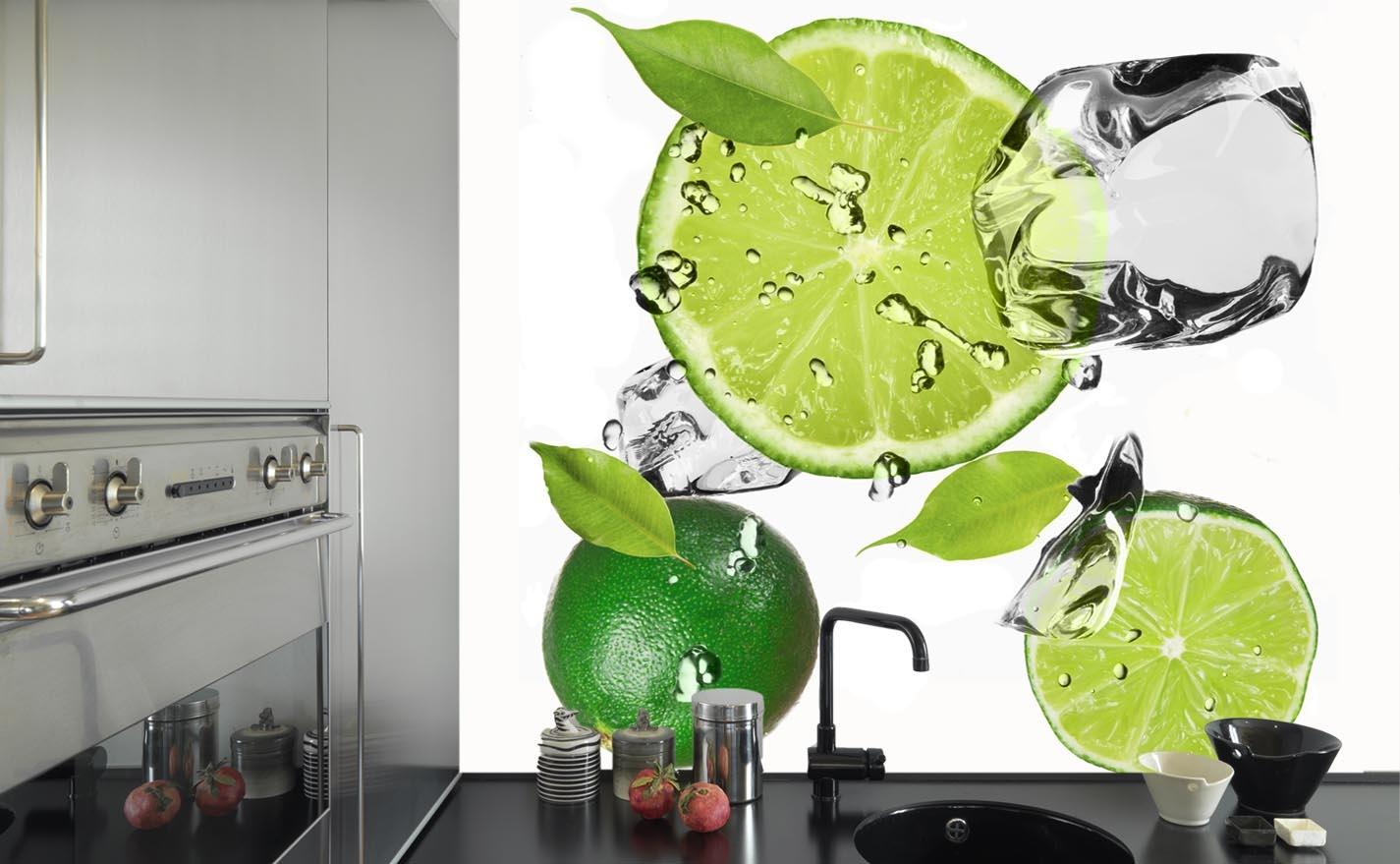 Naklejka Do Kuchni Limonki I Lód