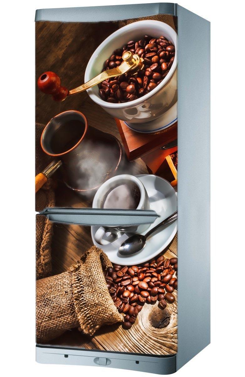 naklejka magnes na lod243wkę kawa i m�ynek magic amp style