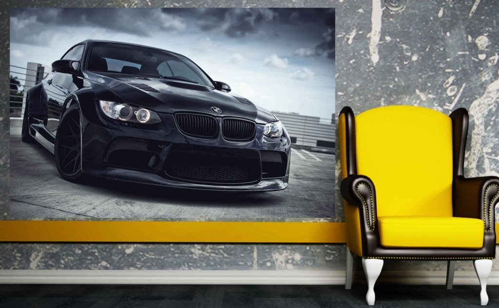 Naklejka Samoprzylepna 100x70cm Bmw M3 In Black Magic Style