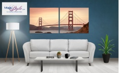 Obraz canvas dyptyk GOLDEN GATE II