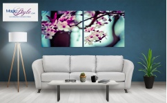 Obraz canvas dyptyk JAPAN CHERRY TREE