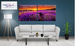 Obraz canvas dyptyk LAVENDER SUNSET
