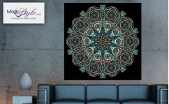 Obraz canvas MANDALA BLACK