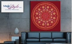 Obraz canvas MANDALA BRICK ORANGE