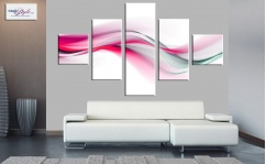 Obraz canvas poliptyk PINK WAVES