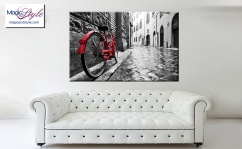 Obraz canvas RED BIKE