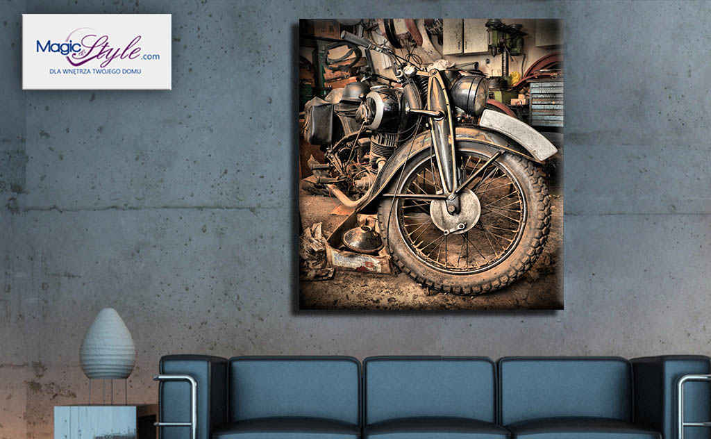 Obraz canvas RETRO MOTORBIKE
