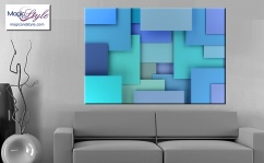 Obraz MDF COLORFUL GEO BLUE