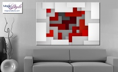 Obraz MDF COLORFUL GEO RED