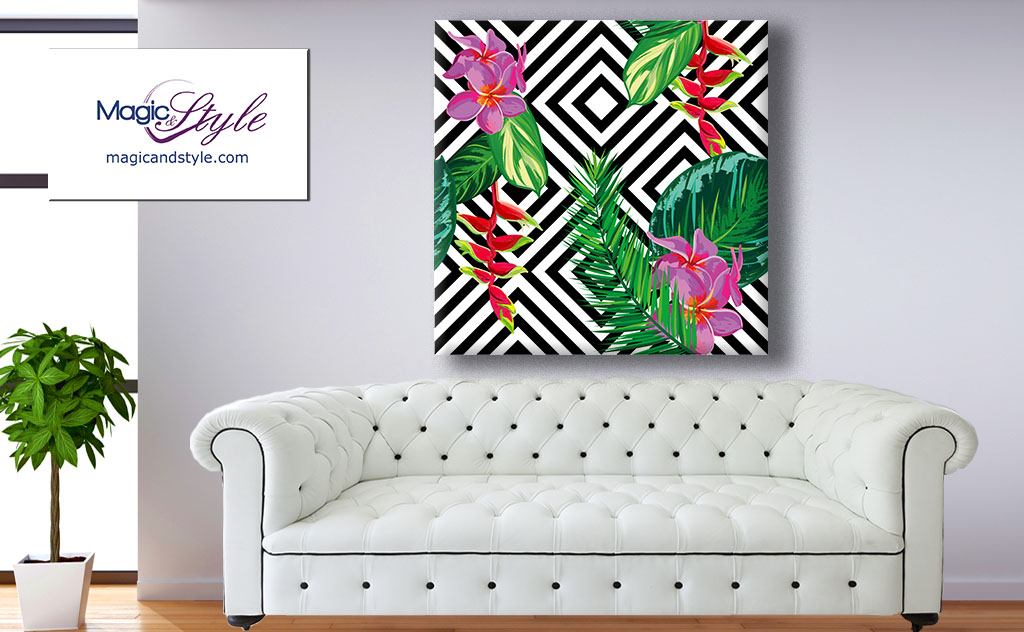 Obraz canvas FLOWERS IN THE JUNGLE