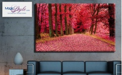 Obraz canvas PINK FOREST