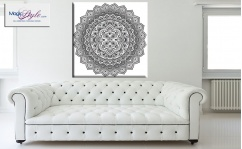 Obraz canvas MANDALA BLACK & WHITE