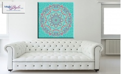 Obraz canvas MANDALA LIGHT BLUE ORIENT