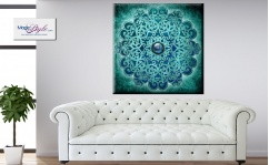 Obraz canvas MANDALA BLUE INDIAN II