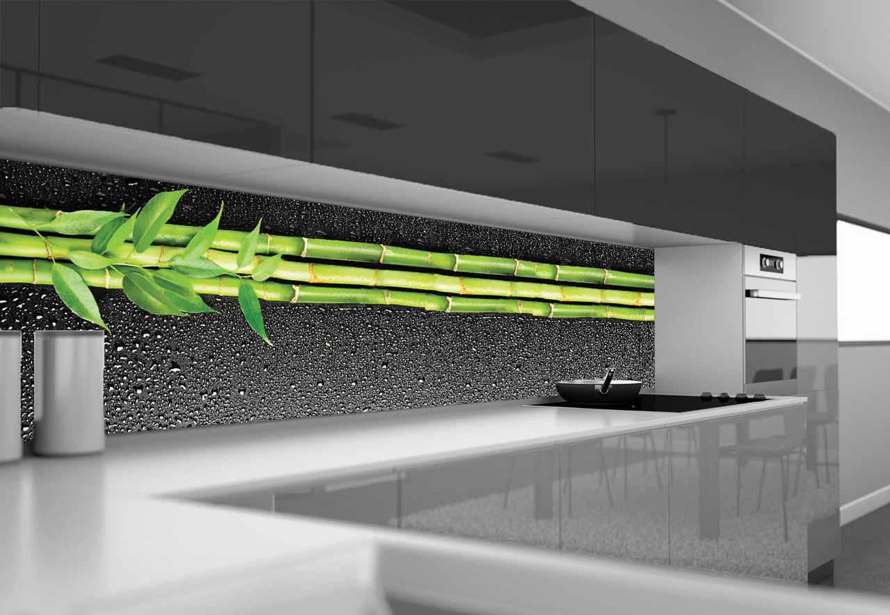 Fototapeta Do Kuchni Bambus I Krople
