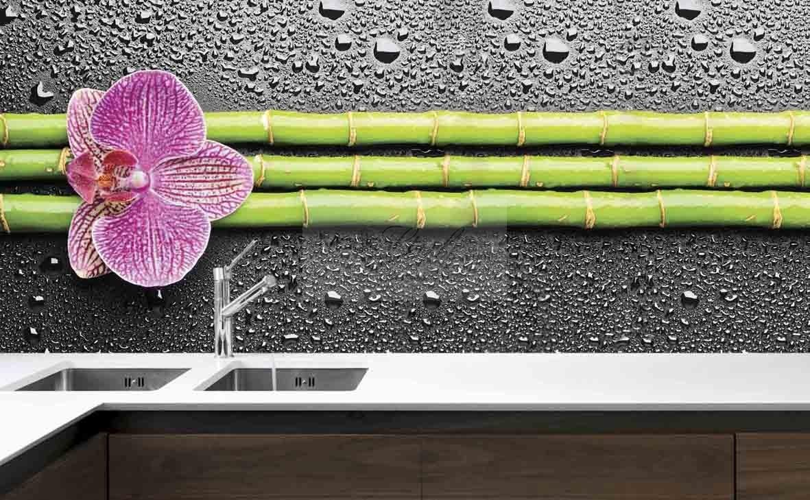 Fototapeta Do Kuchni Orchidea Bambus