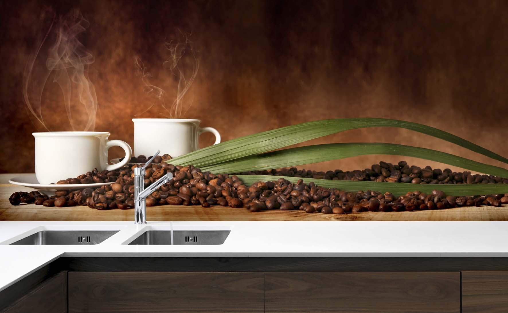 Panel Szklany Do Kuchni Kawa Parzona