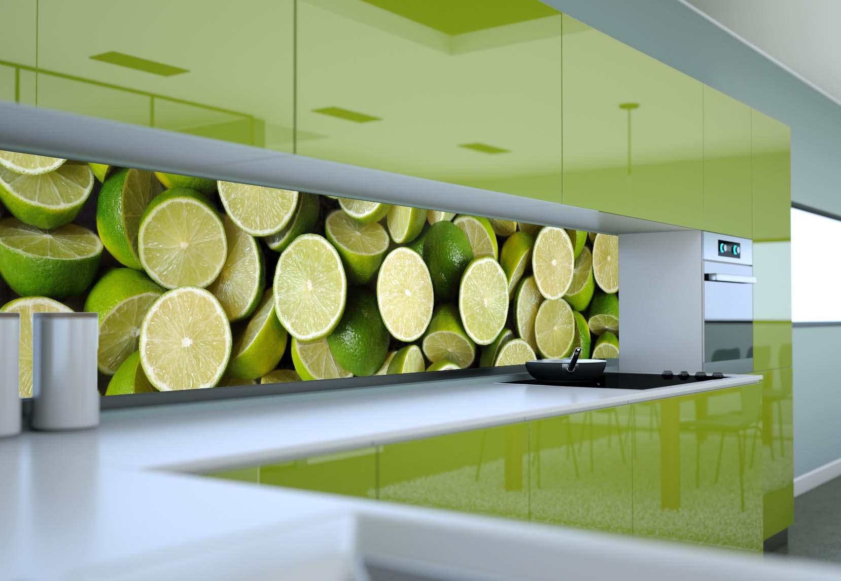 Panel szklany do kuchni POŁÓWKI LIMONEK  Magic & Style -> Kuchnia Leroy Merlin Limonka