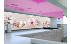 Panel szklany do kuchni STORCZYKI BIAŁO- RÓŻOWE II