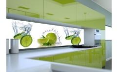 Panel szklany do kuchni LIMONKI I WODA III