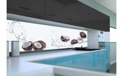 Panel szklany do kuchni KOKOSY I WODA