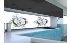Panel szklany do kuchni KOKOSY I LÓD