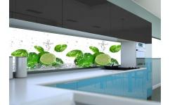 Panel szklany do kuchni LIMONKI W WODZIE