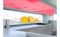 Panel szklany do kuchni CYTRYNY W WODZIE